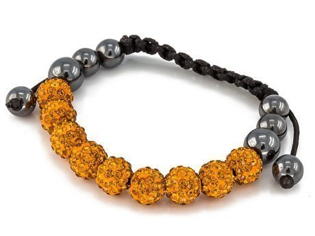 BRANSOLETKA SHAMBALLA EXCLUSIVE DIAMONDS SUNFLOWER