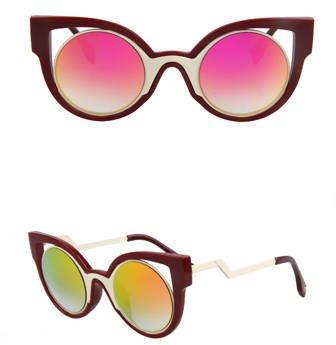 Okulary przeciwsłoneczne zig zag bordo