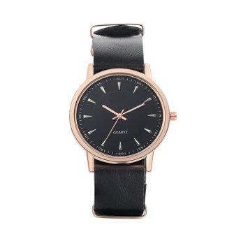 Zegarek damski męski gładki pasek czarny