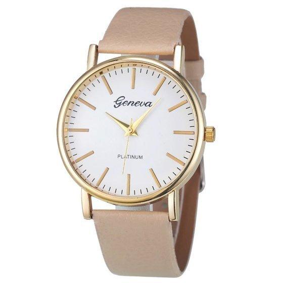 Zegarek klasyczny Geneva beżowy